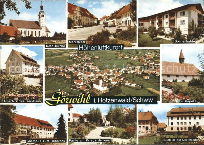 Goerwihl Sonnenhalde Kriegerdenkmal Albert Schweitzer Haus Kat. Goerwihl