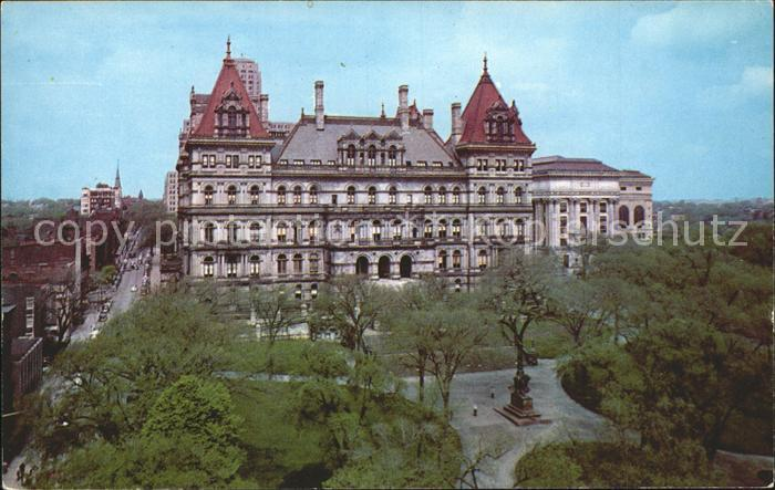 Albany New York The State Capitol Building and the State Education Building Kat. Albany