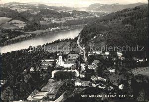 Linz Donau Fliegeraufnahme Stift Wilhering Kat. Linz