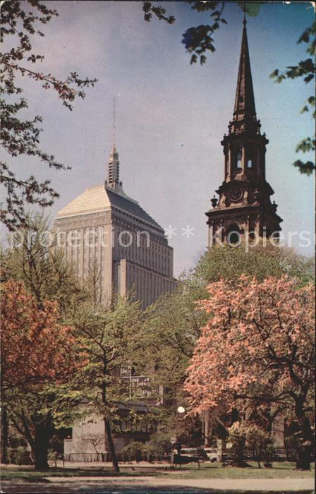 Boston Massachusetts The John Hancock Building and the Arlington Street Church Kat. Boston