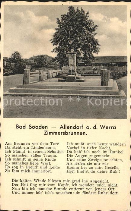 Bad Sooden Allendorf Zimmersbrunnen Kat. Bad Sooden Allendorf