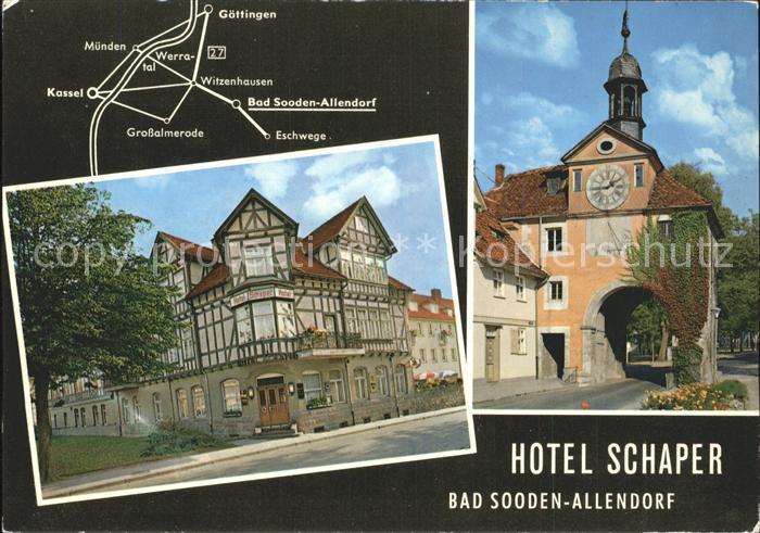 Bad Sooden Allendorf Hotel Schaper Restaurant Faesschen Kat. Bad Sooden Allendorf