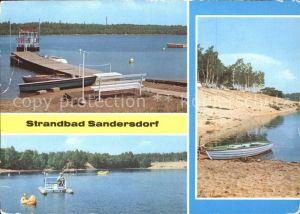 Sandersdorf Sachsen Anhalt Strandbad Boote  Kat. Sandersdorf Sachsen Anhalt