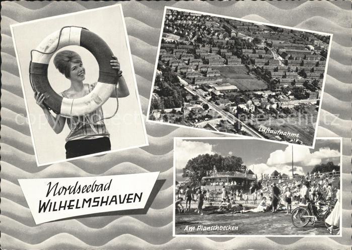 Wilhelmshaven Fliegeraufnahme Planschbecken Kat. Wilhelmshaven
