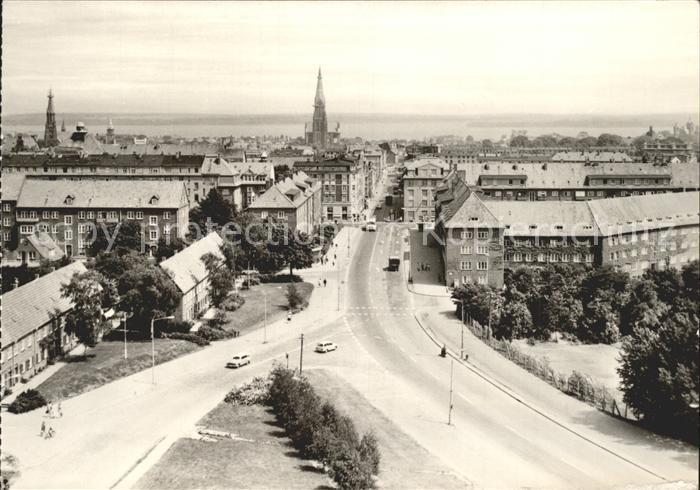 Schwerin Mecklenburg Blick vom Hochhaus  Kat. Schwerin