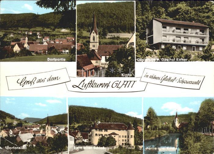 Glatt Gasthaus Pension Kaiser Schloss Kat. Sulz am Neckar