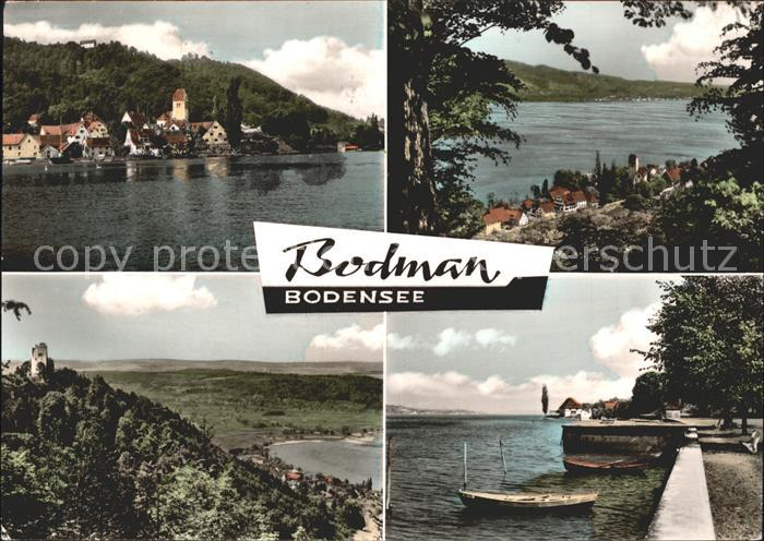 Bodman Ludwigshafen Burg Boote Teilansichten Kat. Bodman Ludwigshafen