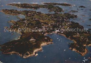 Ile de Brehat Vue aerienne sur l entree de Port Clos Kat. Ile de Brehat