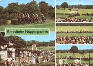 Hoppegarten VEB Vollblutrennbahnen Pferderennen Zuschauer Tribuenen Kat. Hoppegarten