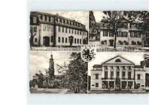 Weimar Thueringen Goethe Haus Schiller Haus Bastilie Nationaltheater Kat. Weimar