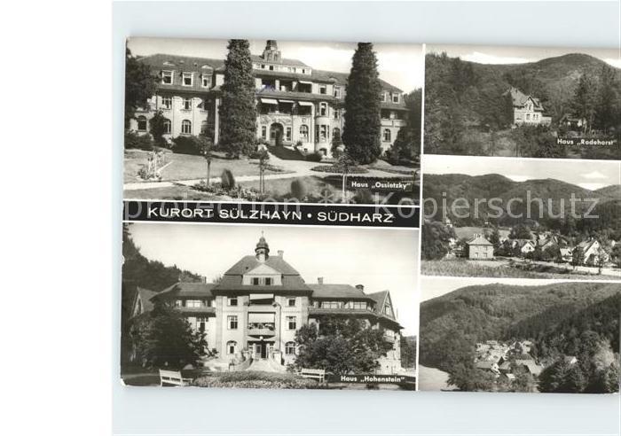 Suelzhayn Haus Hohenstein Ossietzky  Kat. Ellrich