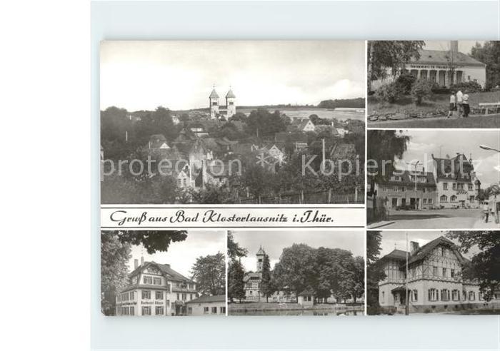 Bad Klosterlausnitz Klosterkirche Kurhotel Koeppe Schwanenteich Sanatorium Dr Friedrich Wolf Kat. Bad Klosterlausnitz