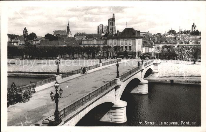Sens Le nouveau Pont Bruecke Kat. Sens