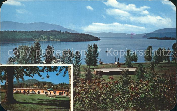 Hope Idaho Lake Aire Resort Motel Kat. Hope