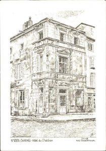 Charmes d Epinal Hotel du Chaldron Kuenstlerkarte Kat. Charmes
