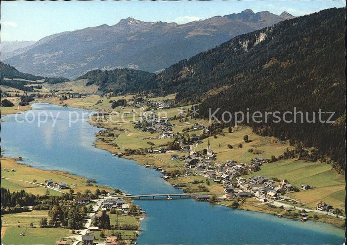 Weissensee Kaernten Weissensee Bruecke Gebirge Kat. Weissensee