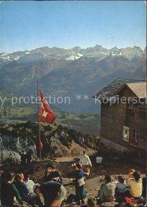 Grosser Mythen Blick vom Gipfel ins Muotathal mit Urner Alpen Toedi Kat. Grosser Mythen