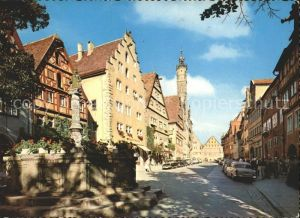 Rothenburg Tauber Herrengasse Kat. Rothenburg ob der Tauber