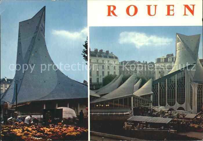 Rouen Place du Vieux Marche et Eglise Sainte Jeanne d`Arc Kat. Rouen