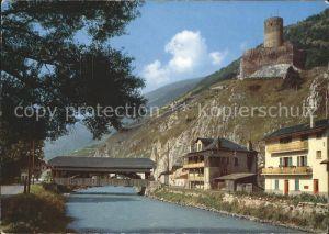 Martigny VS Martigny pont couvert et chateau Batiaz Kat. Martigny