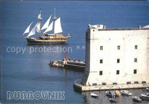 Dubrovnik Ragusa Tvrdjava Sv Ivan Fortress St John Segelboot Kat. Dubrovnik