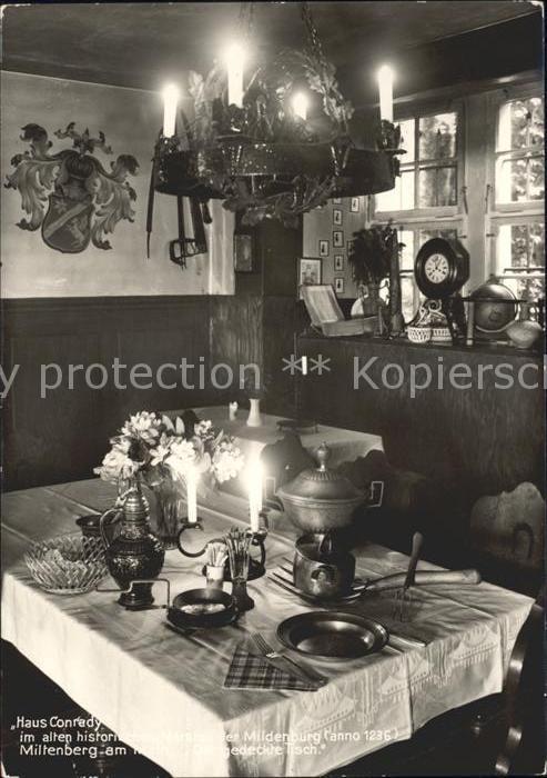 Miltenberg Main Haus Conrady im alten hist Marstall der Mildenburg Der gedeckte Tisch Kat. Miltenberg