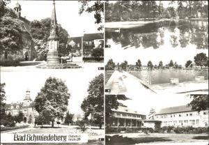 Bad Schmiedeberg Rathaus Kurhaus Schwanenteich Freibad Eisenmoorbad Kat. Bad Schmiedeberg Duebener Heide