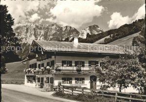Ramsau Berchtesgaden Haus Jagerer Pension Alpen Kat. Ramsau b.Berchtesgaden