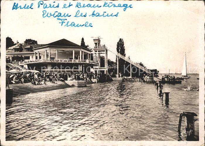 Evian les Bains Haute Savoie La Plage Hotel Restaurant Kat. Evian les Bains