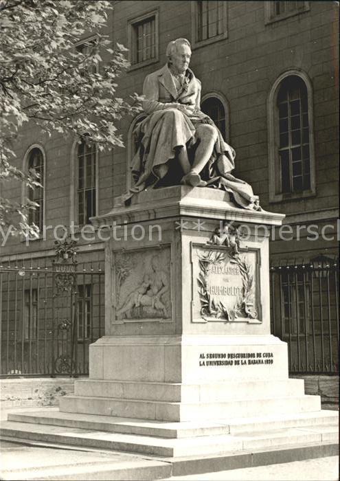 Berlin Denkmal Alexander von Humboldt Universitaet Kat. Berlin