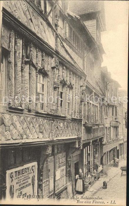 Lisieux Le Manoir de la Salamandre Rue aux Fevres Kat. Lisieux