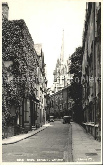 Oxford Oxfordshire Oriel Street Kat. Oxford