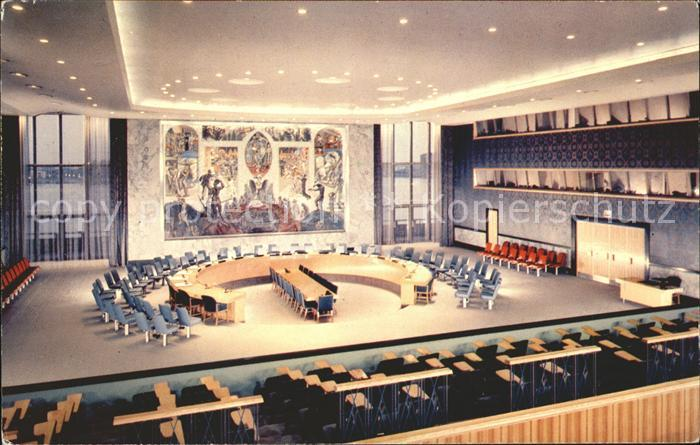 New York City United Nations Headquarters Security Council Chamber / New York /