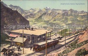 Jungfraubahn Station Eigergletscher  Kat. Jungfrau