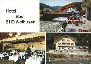 Wolhusen Hotel Bad Wolhusen Terrasse Gastraum Kat. Wolhusen