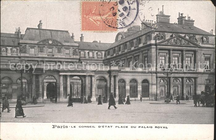 Paris Le Conseil d Etat Place du Palais Royal Kat. Paris