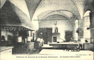 Saint Pierre de Chartreuse Isere Interieur du Couvent de la Grande Chartreuse La Cuisine Kat. Saint Pierre de Chartreuse