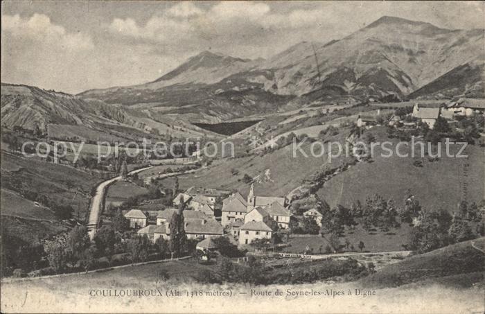 Digne les Bains Colloubroux Route de Seyne les Alpes Kat. Digne les Bains