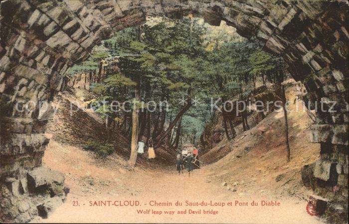 Saint Cloud Hauts de Seine Chemin du Saut du Loup et Pont du Diable Kat. Saint Cloud