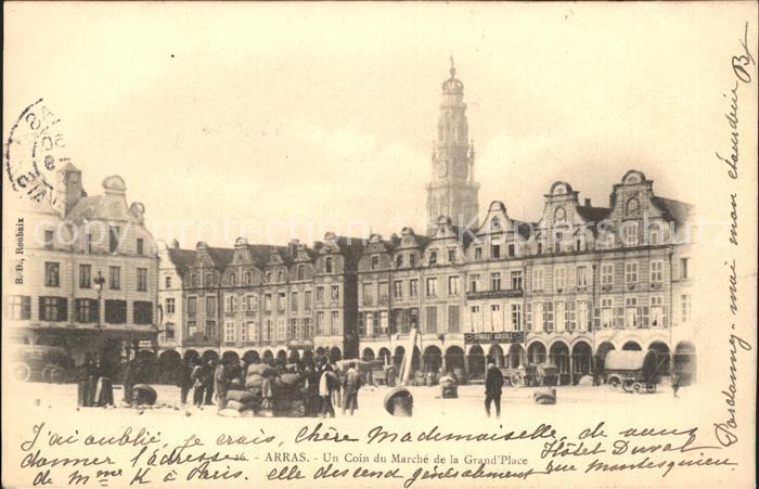 Arras Pas de Calais Un Coin du Marche de la Grand Place Kat. Arras