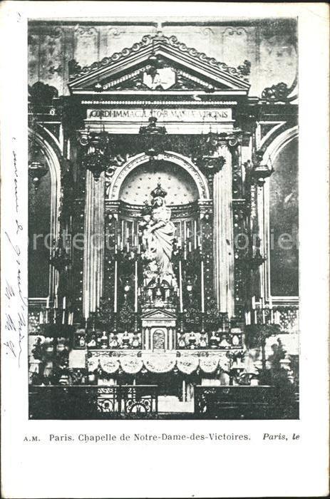 Paris Chapelle de Notre Dame des Victoires Kat. Paris