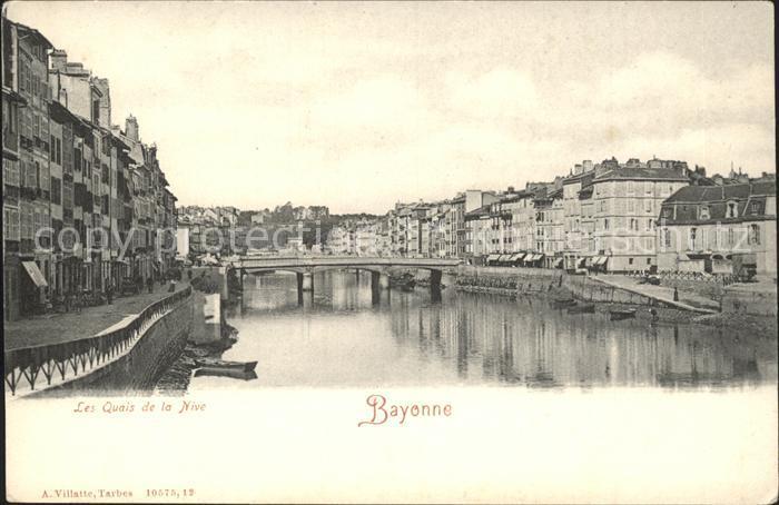 Bayonne Pyrenees Atlantiques Les Quais de la Nive Kat. Bayonne