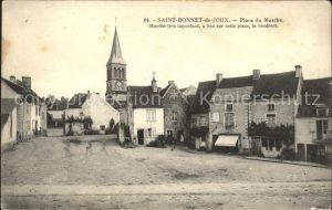 Saint Bonnet de Joux Place du Marche Kat. Saint Bonnet de Joux