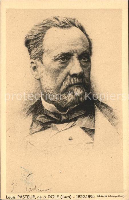 Dole Jura Portrait Louis Pasteur Kat. Dole