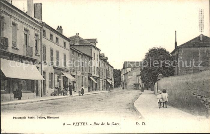 Vittel Rue de la Gare Kat. Vittel