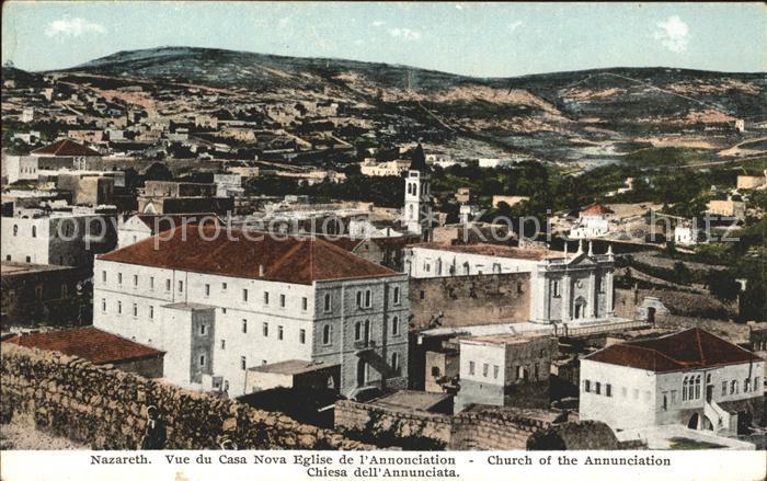 Nazareth Israel Vue du Casa Nova Eglise de l Annonciation Kat. Nazareth Illit