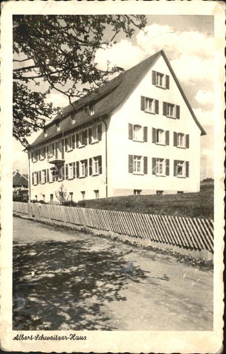 Goerwihl Albert Schweitzer Haus Hoehenluftkurort Kat. Goerwihl