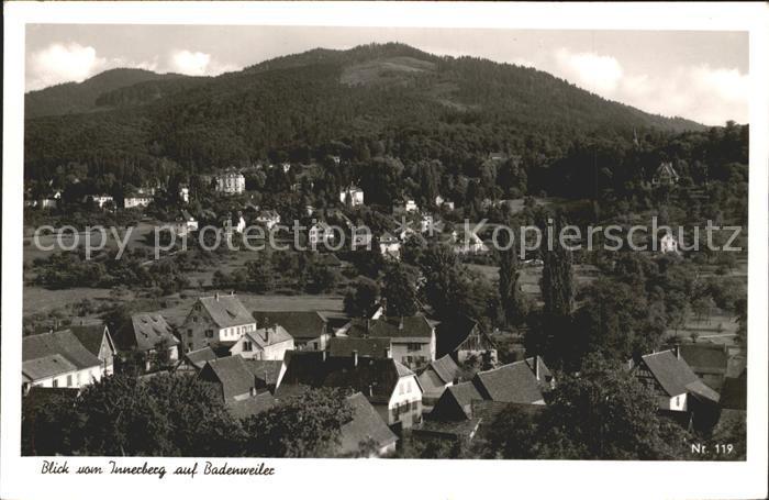 Badenweiler Blick vom Innerberg Kat. Badenweiler