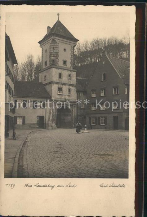 Landsberg Lech Turm Torbogen Kat. Landsberg am Lech