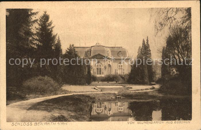 Benrath Schloss Teich Kat. Duesseldorf
